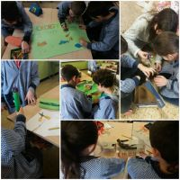 Students of 4th grade create their own machines